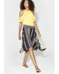 Halston - Printed Handkerchief Skirt - Lyst