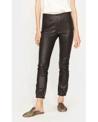 Halston - Stretch Leather Leggings - Lyst