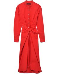 Proenza Schouler - Tied Shirt Dress - Lyst