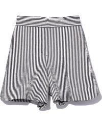 Dorothee Schumacher - Textured Stripe Shorts In Navy/white - Lyst