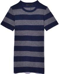 Jenni Kayne - Rugby Stripe T-shirt In Navy/grey - Lyst