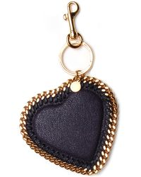 Stella McCartney - Falabella Heart Keychain In Navy - Lyst