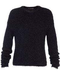 Tibi - Gleam Crewneck Sweater In Black - Lyst