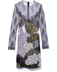 Nina Ricci - Patchwork Lace Dress In Military Green - Lyst