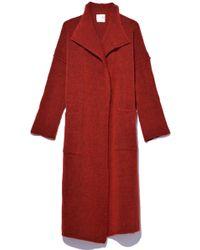 Giada Forte - Gauzed Wool Coat In Melograno - Lyst