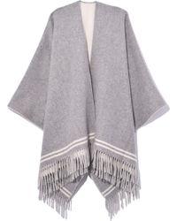Rag & Bone - Striped Poncho In Grey Multi - Lyst