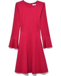Harris Wharf London - Ruffle Short Dress In Cerise - Lyst