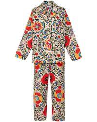 Rhode Resort - Berto Pajamas In White Multiflower - Lyst
