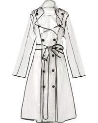 Dorothee Schumacher - Transparent Veil Coat In Transparent Black - Lyst