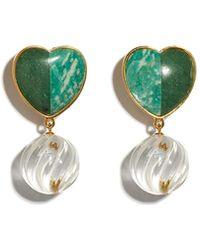 Lizzie Fortunato Tide Pool Earrings - Green