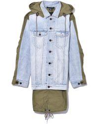 Alexander Wang - Daze Mix Jacket In Bleach/army Green - Lyst