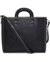 Rochas - Hard Handle Embossed Tote In Black - Lyst