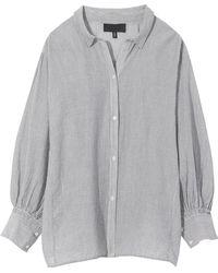 Nili Lotan - Trenton Shirt In Black Pinstripe - Lyst