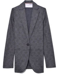 Harris Wharf London - Prince Of Wales Boyfriend Blazer In Middle Grey - Lyst