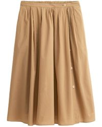 Alex Mill - Cotton Midi Skirt In Vintage Khaki - Lyst