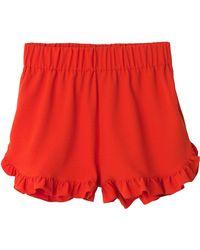 Ganni - Clark Shorts In Big Apple Red - Lyst