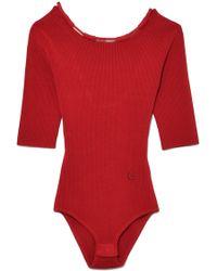 Carven - Bodysuit In Espelette - Lyst