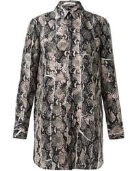 Dorothee Schumacher - Fragmented Viper Blouse In Rose Viper - Lyst