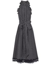 Marc Jacobs - Dot Print Midi Dress - Lyst