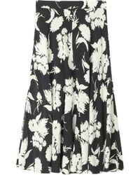Ganni - Kochhar Floral Print Skirt - Lyst