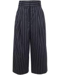 Tibi - Sateen Stripe Bianca Cropped Pants - Lyst