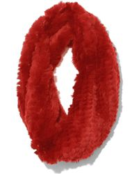 Yves Salomon - Rex Rabbit Snood In Rio - Lyst