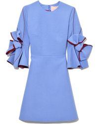 ROKSANDA - Harlin Dress In Lavender/bordeaux - Lyst