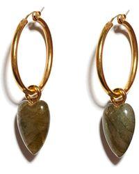 Lizzie Fortunato - Hoop And Dagger Earrings - Lyst