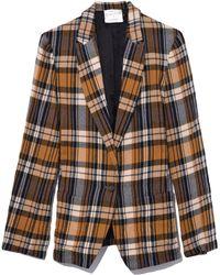 Forte Forte - Wool Tartan Jacket In Ambra - Lyst