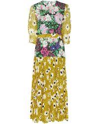 RIXO London - Cozi Dress In Leopard Daisy Flower - Lyst