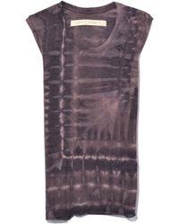 Raquel Allegra - Fitted Muscle Tank In Bobcat Tie Dye - Lyst