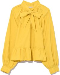 Ulla Johnson - Queenie Blouse In Chartreuse - Lyst