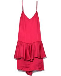 Stella McCartney - Double Dress In Fuchsia Pink - Lyst