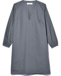 La Robe - Chelsea Poplin Dress In Seagrass - Lyst