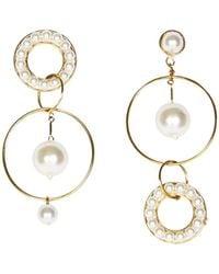 Mignonne Gavigan - Mika Mismatch Earrings In White/gold - Lyst