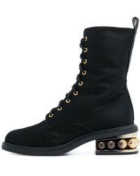Nicholas Kirkwood - Casati Pearl Combat Boots In Black - Lyst