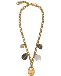 Lizzie Fortunato - Heart Of Gold Single Strand Necklace - Lyst
