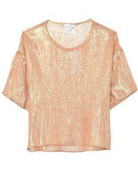 9fb840f8 Forte Forte - Lurex Chiffon Silk T-shirt In Oro - Lyst