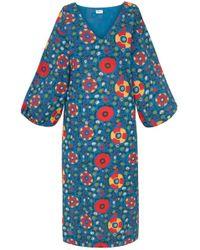 Rhode Resort - Delilah Dress In Blue Multiflower - Lyst