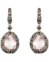 Annoushka - Dusty Diamonds Rose Quartz Earrings - Lyst