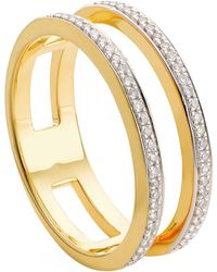 Monica Vinader - Skinny Double Band Diamond Ring - Lyst