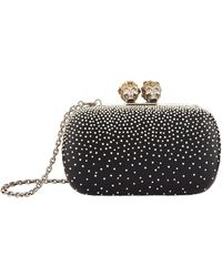 Alexander McQueen - Embellished Queen And King Box Clutch - Lyst