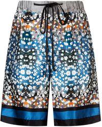 Meng - Silk Floral Print Pyjama Shorts - Lyst