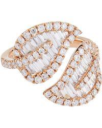 Anita Ko - Large Rose Gold Leaf Ring - Lyst