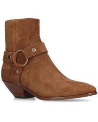 Saint Laurent - Suede Lukas Western Boots 45 - Lyst