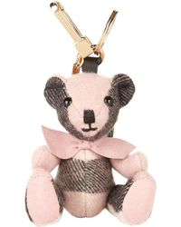 Burberry - Thomas Check Bear Charm - Lyst