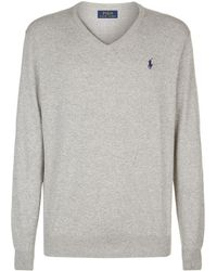 e19bdea0a Polo Ralph Lauren Logo-embroidered Cotton Jumper for Men - Lyst