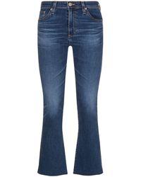 AG Jeans - Jodi Cropped Flare Raw Hem Jeans - Lyst