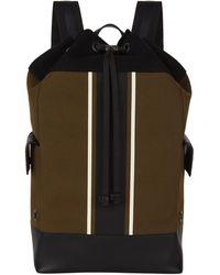 Bottega Veneta - Striped Canvas Drawstring Backpack - Lyst