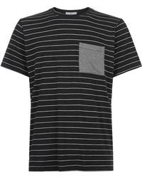 Homebody - Striped Lounge T-shirt - Lyst